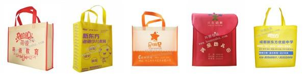 环雅包装为培训学校设计的学校宣传手提袋可在袋身印上学校的logo