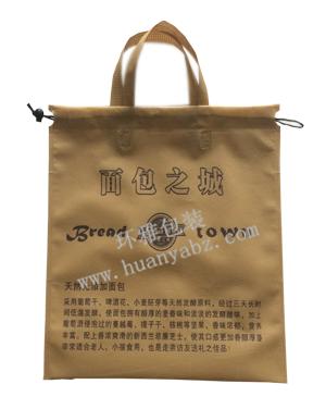 厂家定做无纺布食品包装袋 面包之城无纺布抽绳袋