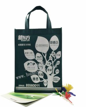 厂家定制学校宣传环保袋 成都新东方学校广告宣传袋厂家定做