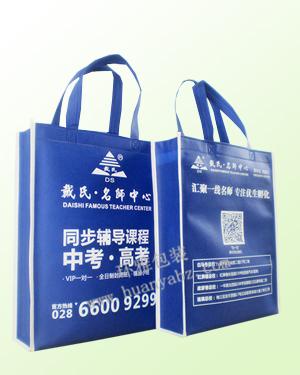 竖式无纺布学校宣传袋——戴氏教育  成都环雅环保袋厂家专业生产