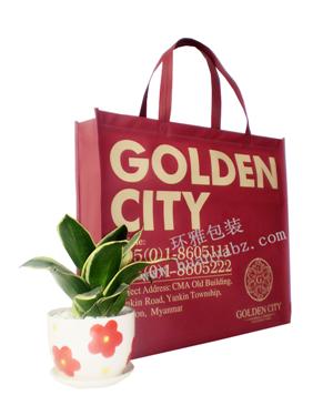 发往缅甸金城的环保手提袋 环雅包装厂家专业定制