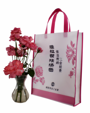 绵阳市总工会环保宣传无纺布袋定做 印刷精美 款式新颖