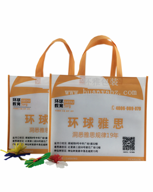 厂家供应环球雅思学校宣传袋 成都环保袋 量大从优