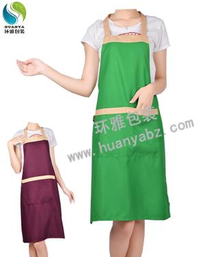 厂价直销广告围裙 无纺布围裙 环雅包装支持来图来样定制