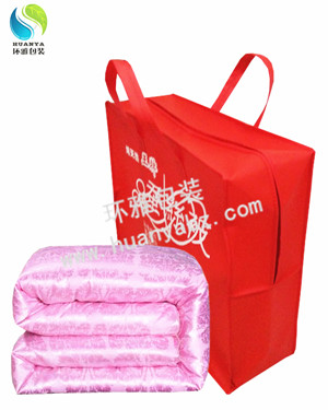 供应优质拉链无纺布袋 蚕丝被包装袋 无纺布家纺袋 超高性价比