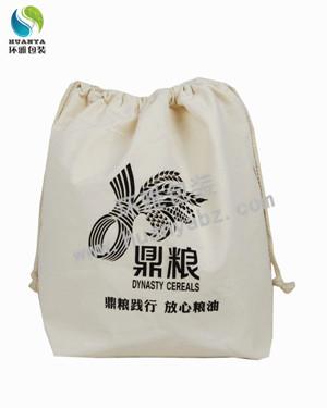环雅包装量身定制四川鼎粮实业帆布抽绳袋