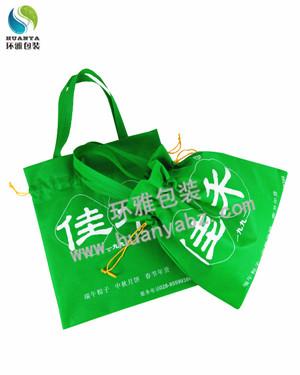 佳禾粽子无纺布包装袋定制 抽绳设计可收拉美观耐用