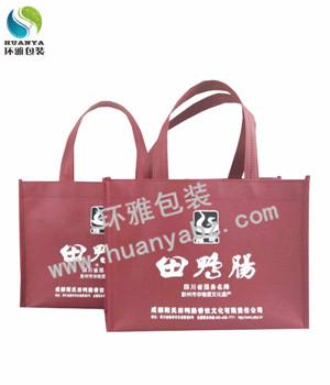 厂家定制四川田鸭肠火锅宣传用无纺布手提袋 缝制精湛质优价廉