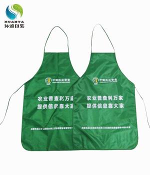 中国农业普查宣传用牛津布围裙定做 印刷精美环保实用